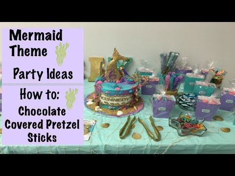 Mermaid Themed Party Ideas  How To Make Chocolate Covered Pretzel Sticks