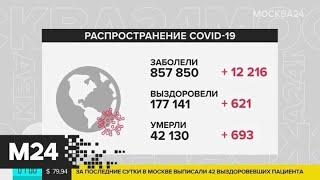 Число заболевших COVID-19 в мире превышает 857 тысяч - Москва 24