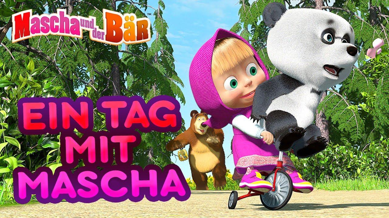 mascha und der bär  👧 ein tag mit mascha 👣  youtube