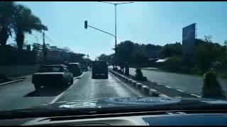 Kondisi Jalan Raya Yogyakarta-Solo siang hari