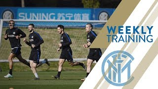 INTER vs LAZIO | WEEKLY TRAINING | Back to business!