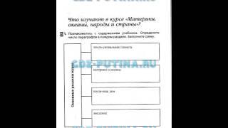 ГДЗ ответы к рабочей тетради по географии 7 класс Душина 2015