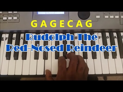 Rudolph The Red Nosed Reindeer Easy Piano Keyboard Tutorial