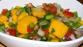 How To Make Mango Salsa Recipe/ Healthy Dip