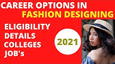 Careers In Fashion Designing Fashion Designer B Sc Certificate Courses Trend Research Youtube