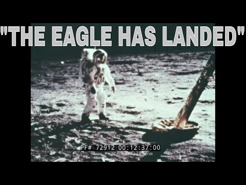 "APOLLO 11 LUNAR MISSION NASA HISTORIC FILM ""THE EAGLE HAS LANDED"" 72912"