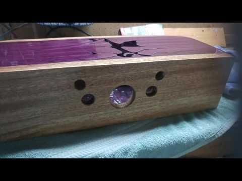 Purpleheart Wood SHELLAC POLISHING TO A MIRROR LIKE FINISH (Tongue drum) Part 3 OF 3
