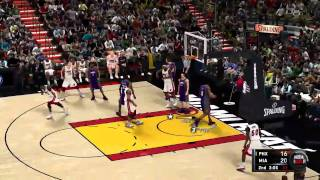 NBA 2K11 Phoenix Suns vs. Miami Heat Gameplay HD
