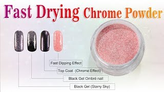 Various Chrome Nails by Fast Drying Dip Powder