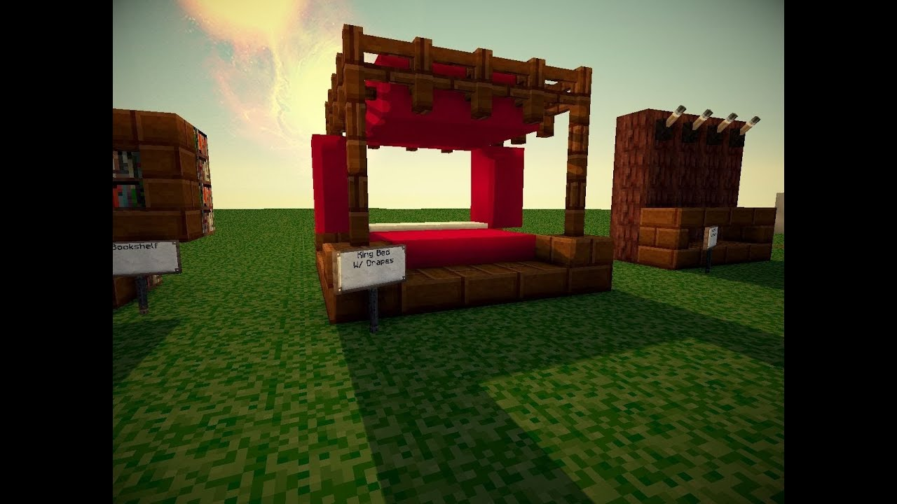 minecraft king bed youtube