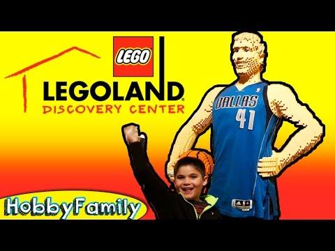 Lego Discovery Center in Texas! HobbyKids Visit Texas Mall on HobbyFamilyTV