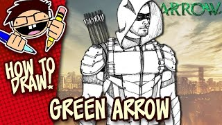 How to Draw GREEN ARROW (ARROW TV Series) Easy Step-by-Step Tutorial