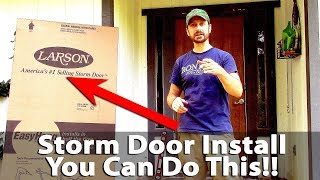 How To Install A St๐rm Door - Larson EasyHang - DIY (Very Easy)★