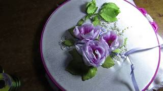 8. Ribbon embroidery process/ How to sew ribbons? Процесс вышивки лентами