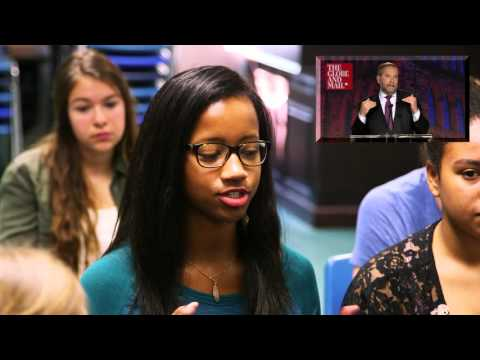 Kids react to the Globe and Mail leaders' debate