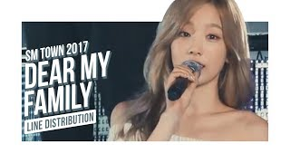 SM Town - Dear My Family (2017 Ver.) (Line Distribution)