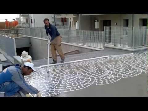 Forma per creare selciato vialetto sentiero in pietra n - Intonacare muro esterno ...