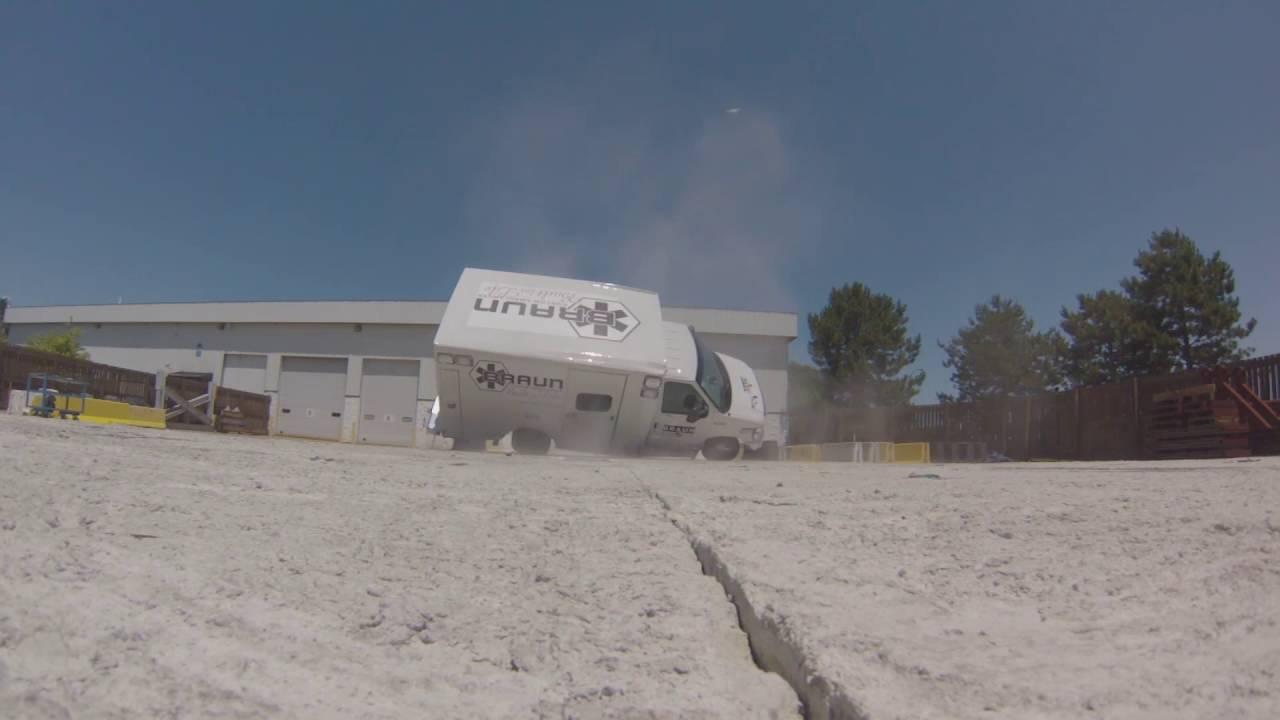Ambulance Rollover Crash - Crash Testing by Braun