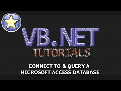 VB.NET Tutorial - Connect & Query a Microsoft Access Database [FULL]