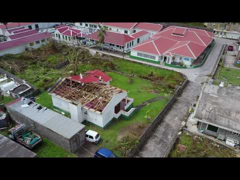 Saba Netherland Antilles drone video compilation before and
