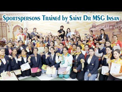 International Sportswomen trained by Saint Dr MSG