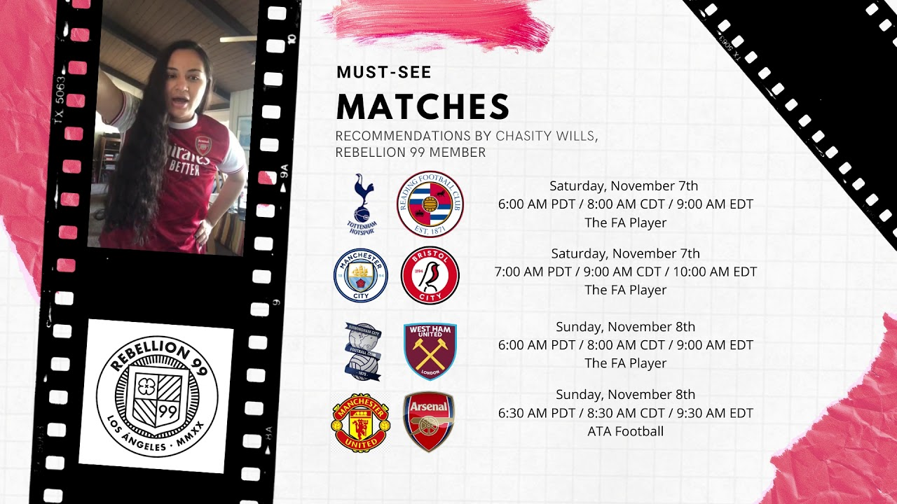 Must-See Matches I November 6-8, 2020