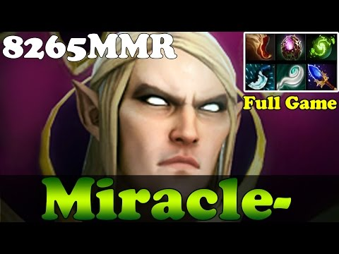 Dota 2 - Miracle- 8265MMR Plays Invoker 38/0 - Full Game - Pub Match Gameplay