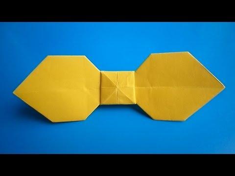 оригами галстук бабочка, как сделать оригами галстук бабочка // Origami bow tie