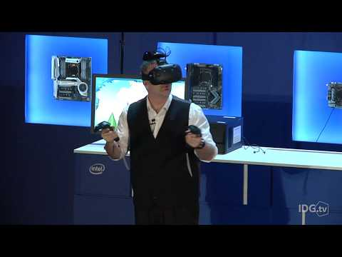 Intel shows off wireless VR on the HTC Vive | Computex 2017