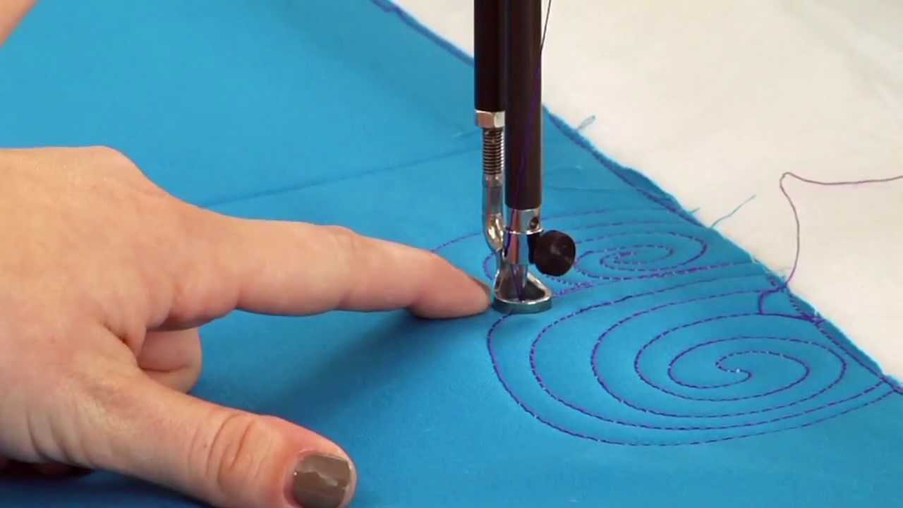 Machine Quilting: More Swirl Designs - YouTube : swirl quilt - Adamdwight.com