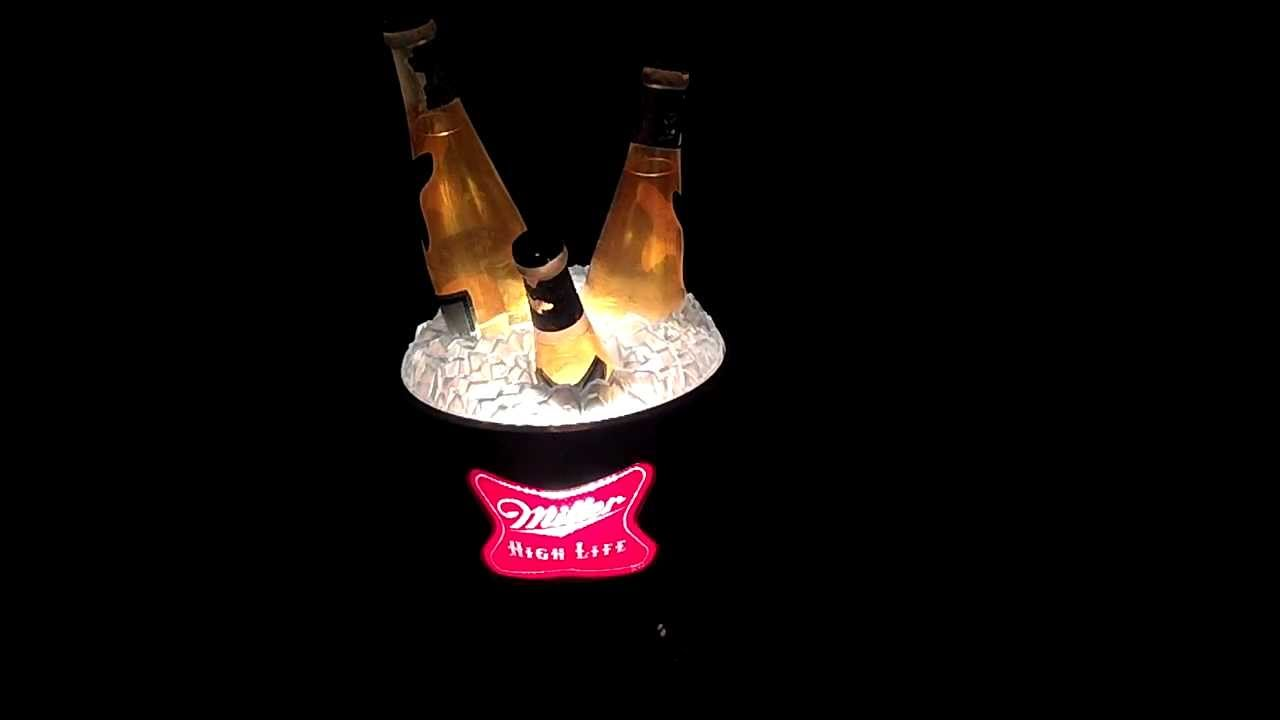 Miller high life spinning ice bucket bar light youtube miller high life spinning ice bucket bar light aloadofball Images