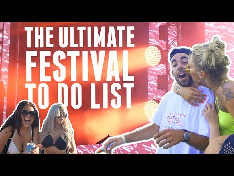 The ULTIMATE FESTIVAL TO DO LIST