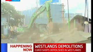 HAPPENING NOW: Demolitions ongoing at Westlands Market opposite Sarit Centre