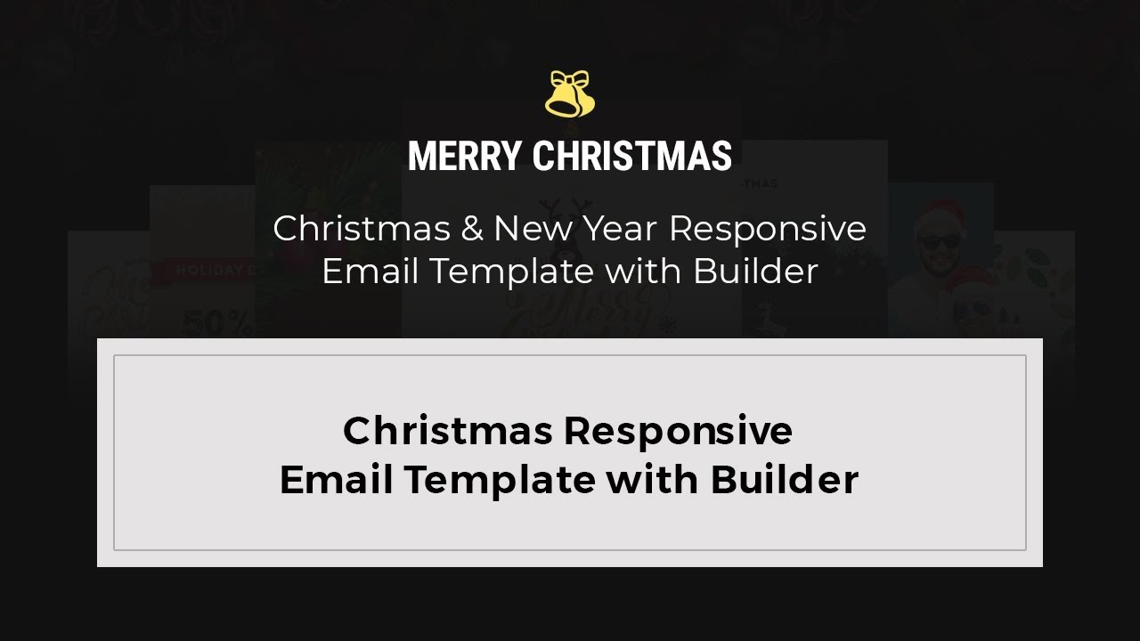 MyMail - Christmas Responsive Email Template with Builder - YouTube