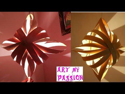 Diy Lamp Shade-how To Make A Paper Lampshade/lantern