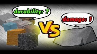 what is the most durable block?   NEW blocks! (old information)   ROBLOX Build A Boat For Treasure