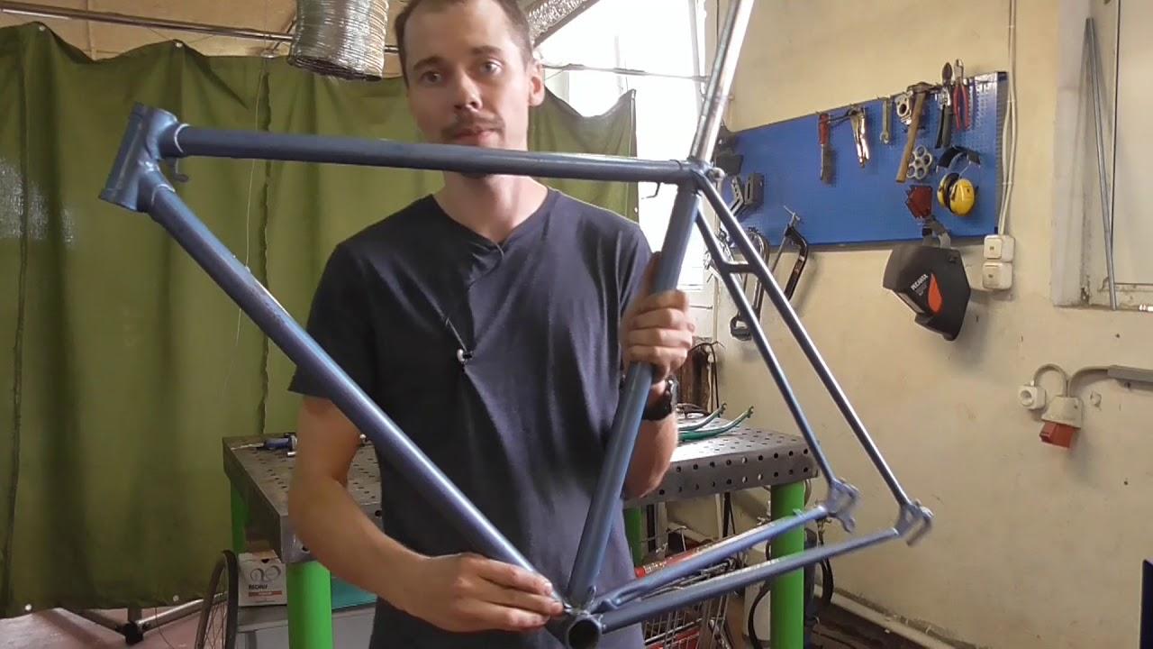 Готовим советскую велосипедную раму ХВЗ к сборке