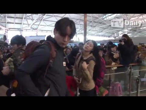 160207 TVDaily : Incheon airport (To Tonga) - Chansung, Sungjong, Seolhyun, Lee Hoon