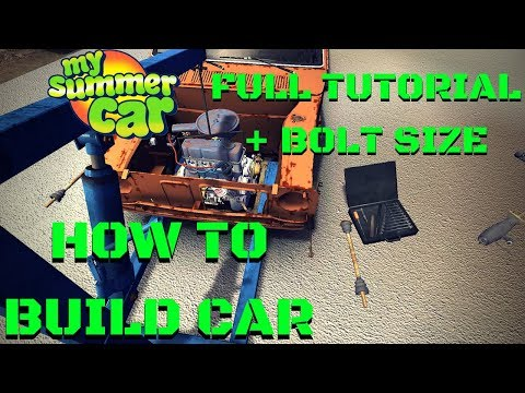 How To BUILD CAR, ENGINE And CONNECT WIRES - FULL TUTORIAL - My Summer Car #112