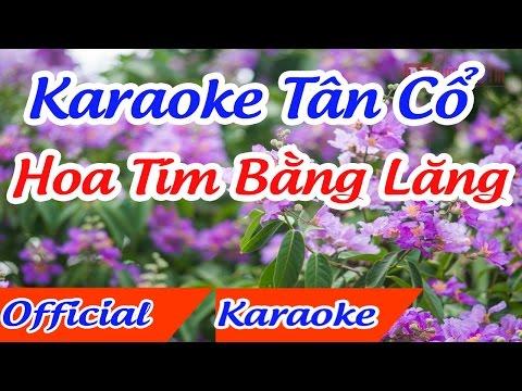 Hoa tím bằng lăng karaoke tân cổ song ca thanh tuấn thanh kim huệ