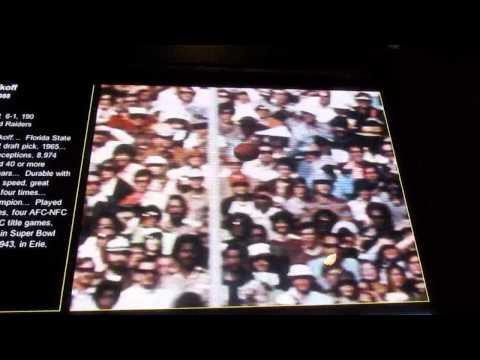 Fred Biletnikoff Hall of Fame Video