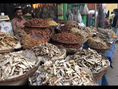 Biggest Dry Fish Market In Dhaka Karwanbazar Bangladesh