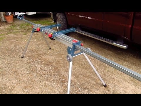 Bosch Miter Saw Stand Folding Legs Review Youtube