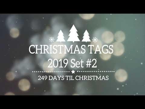 2019 Chirstmas Tags Set #2