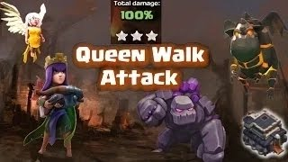 Clash of Clans - Super Queen GoLaLoon Strategy for 3 Stars TH9
