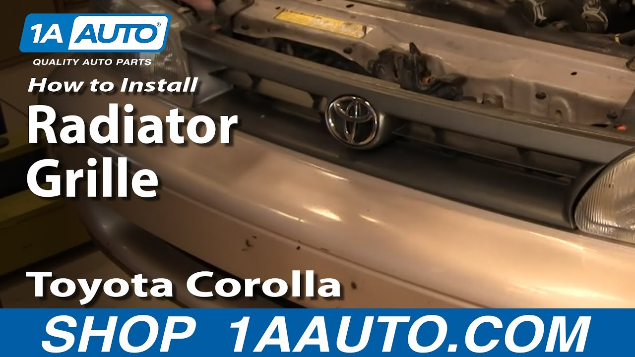 How To Replace Grille 93 95 Toyota Corolla Youtube