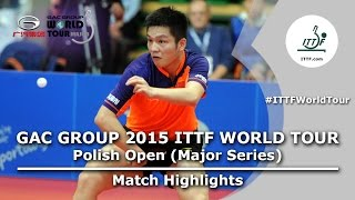 Polish Open 2015 Highlights: FAN Zhendong vs FEGERL Stefan (Final)