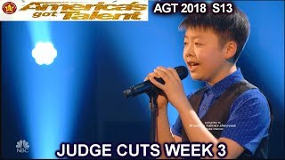 "Jeffrey Li sings ""One Moment In Time""  America's Got Talent 2018 Judge Cuts 3 AGT"
