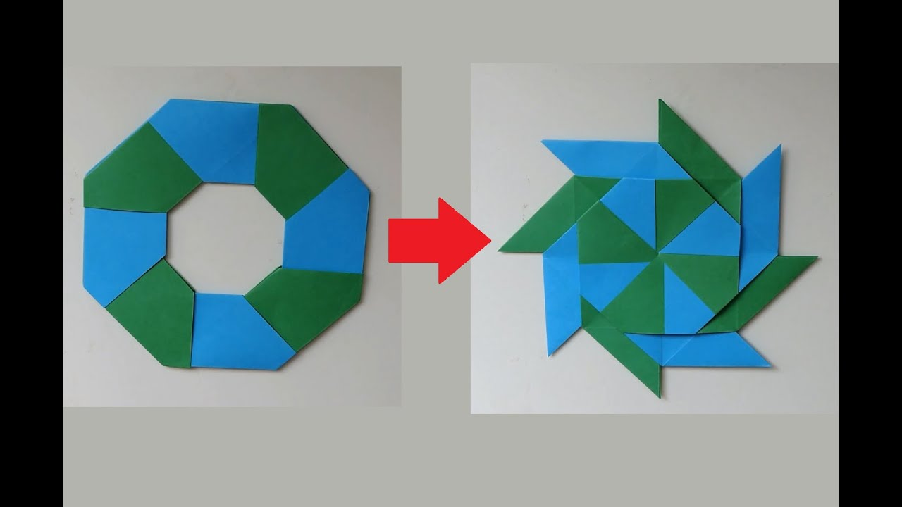 How To Make A Transforming 8 Pointed Ninja Star Origami