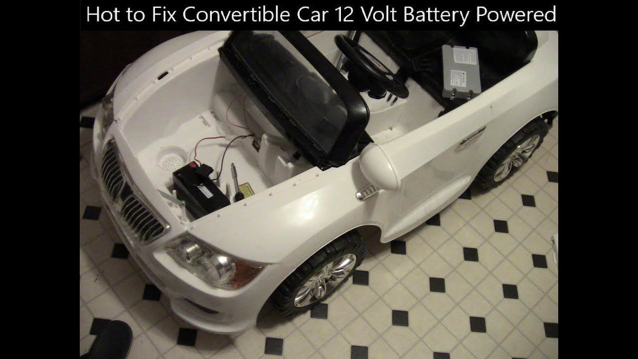 hot to fix convertible car 12 volt battery powered ride on whispering
